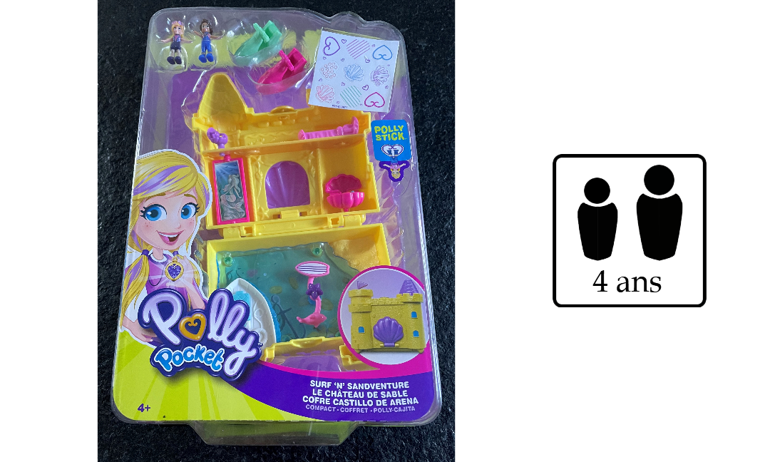 Le château de sable Polly Pocket